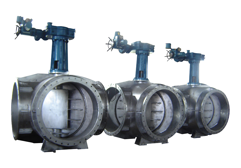 Four-way butterfly valve